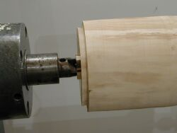 dovetail tenon for compression chuck