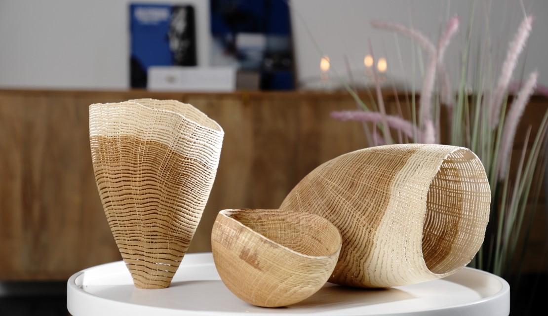 Vase, bol et cocon